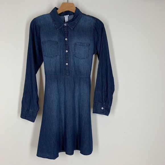 4408b6a1952 Justice Denim Dress Shirt Dress Jean New  46